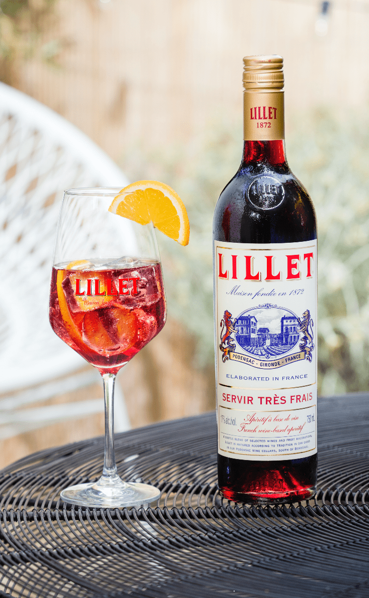 Lillet blanc vin apéritif rouge - vin rouge apero