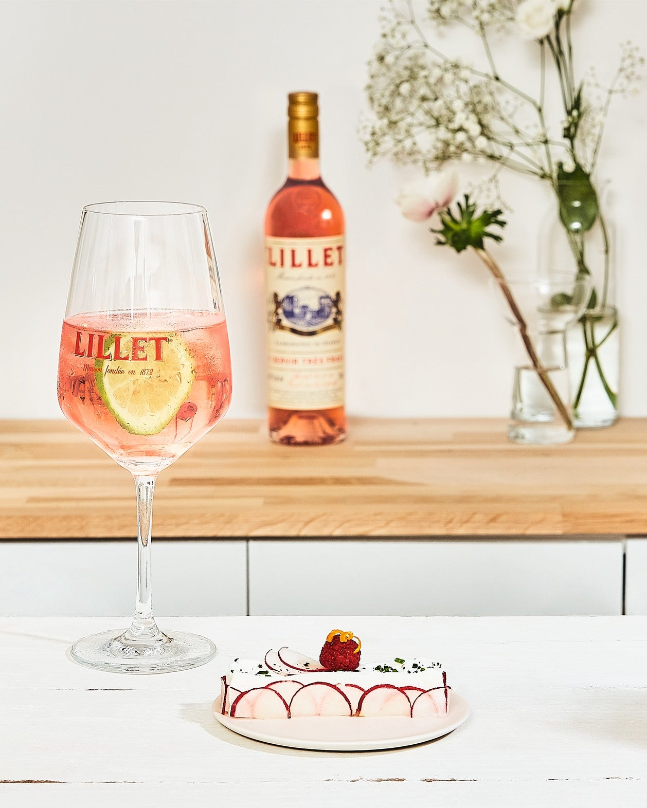 cocktail lillet rose tonic